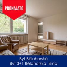 Byt Bělohorská - pronájem - Byt 3+1 Bělo