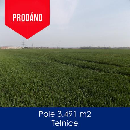 Pole Telnice - prodej - Pole 3.491 m2, T