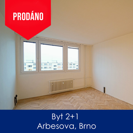 Byt Arbesova - prodej - Byt 2+1 Arbesova