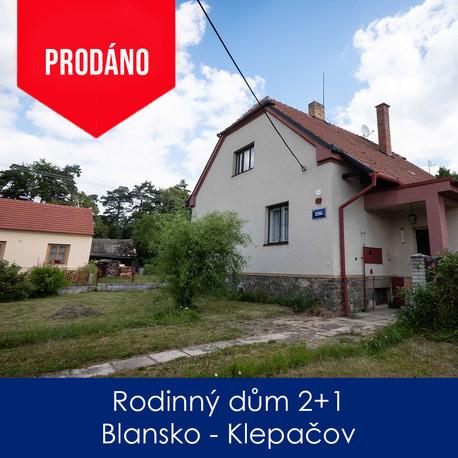 RD Blansko - prodej - Rodinný dům 2+1, B