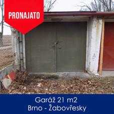 Garáž Žabovřesky - pronájem - Garáž 21 m