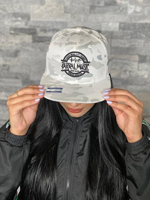Multicam Camo White Snapback / Black Logo