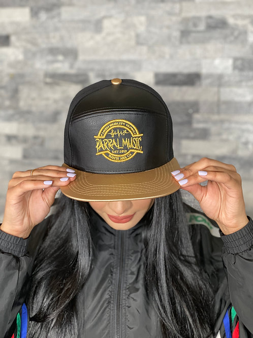 Leather Black & Gold / Gold Logo