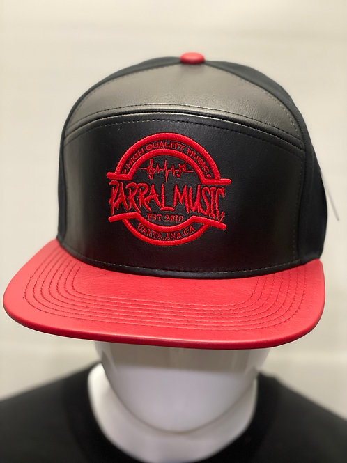 Leather Black & Red / Red Logo