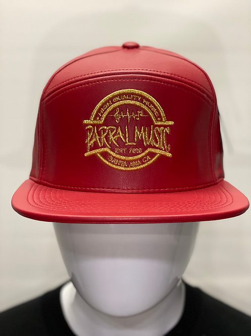 Leather Red & Red / Gold Logo