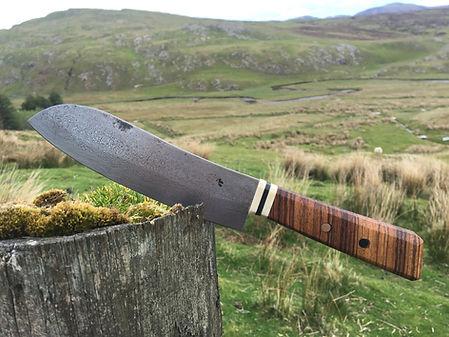 Handforged kitchen knife - santoku