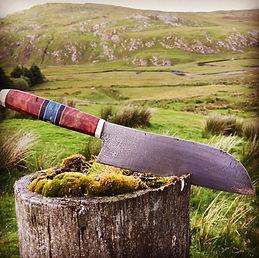 Handmade Santoku kitchen knife