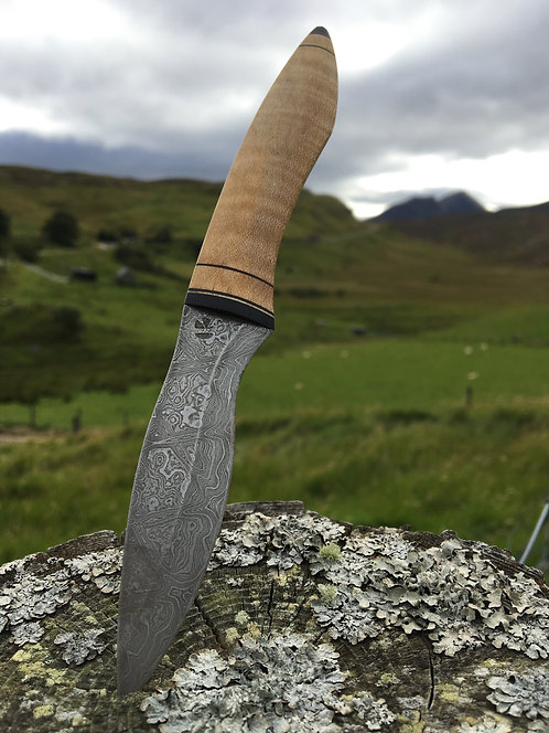 """Unique One-of-a-kind handforged Kernunos Sgian Dubh """"Rivendell"""""""" / High carb"""