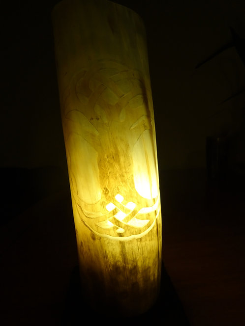 """Horn Table Lamp - Enterlacing """"Tree of Life"""""""