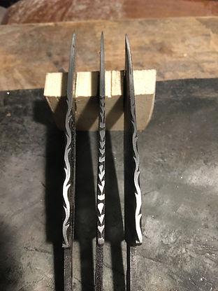 handforged damascus sgian dubh blades