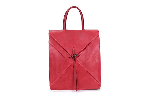 Spacious Back pack with many compartments in Berry Red