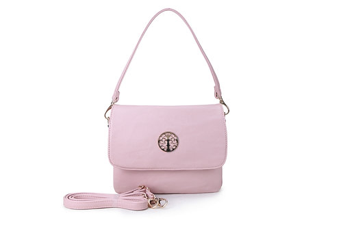 Cross-body / Shoulder bag with short handle also in Blush Pink.