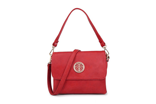Cross-body / Shoulder bag with short handle also in Cardinal Red.