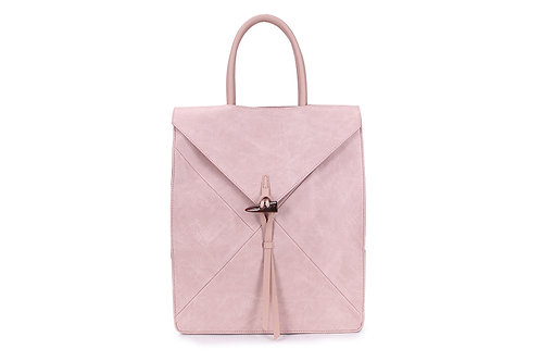 Spacious Back pack with many compartments in Blush Pink ( Nude)