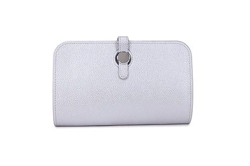 Unique purse to hold phone with detachable coin / card holder Silver White