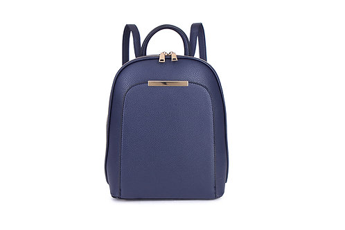 Compact Back pack with many compartments in Navy.