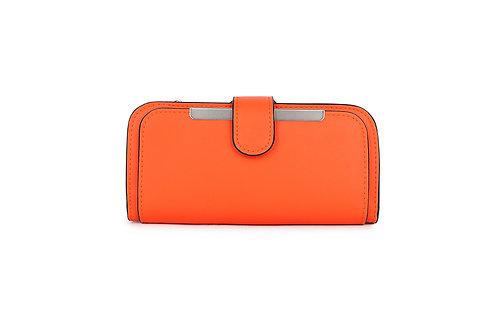 Classic versatile Purse / Wallet in Faux leather in Orange