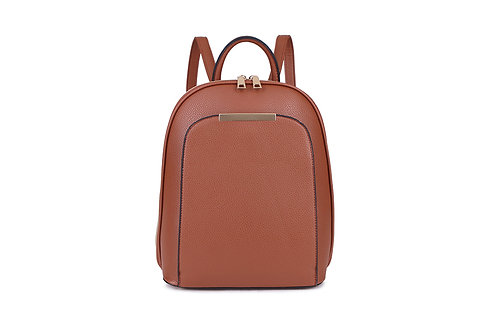 Compact Back pack with many compartments in Tan colour.