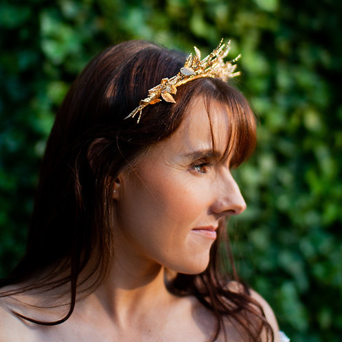 Leaf Halo Hairband in Rose Gold.