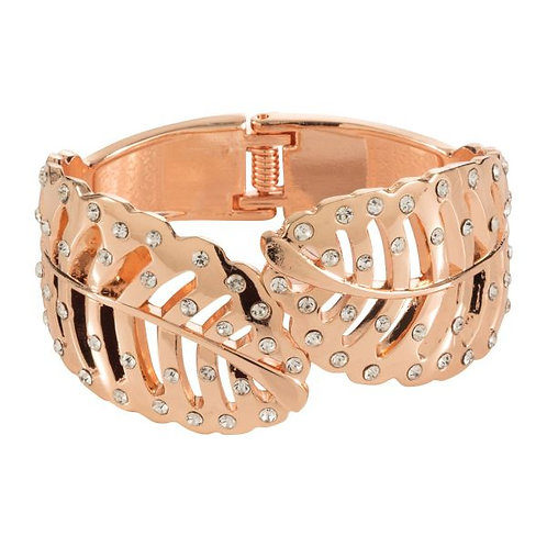Snap on Leaves Bangle in Rose Gold and jewels . So dressy .