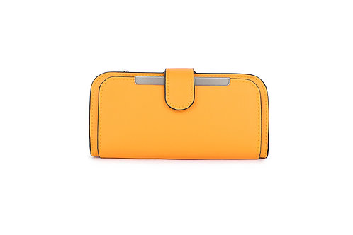 Classic versatile Purse / Wallet in Faux leather in Yellow.