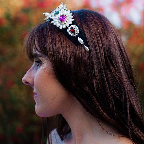 Jewelled headband. Ruby/Emerald/Pink/Pearl