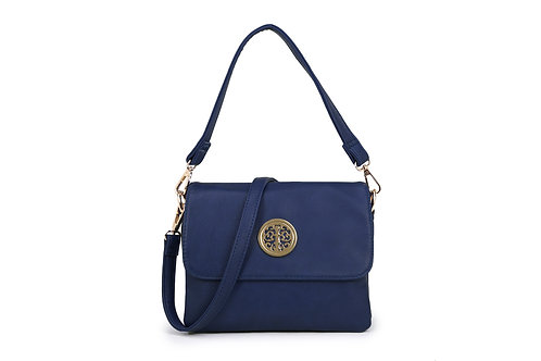 Cross-body / Shoulder bag with short handle also in Royal Blue.