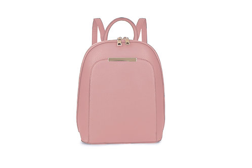 Compact Back pack with many compartments in Blush Pink ( Nude).