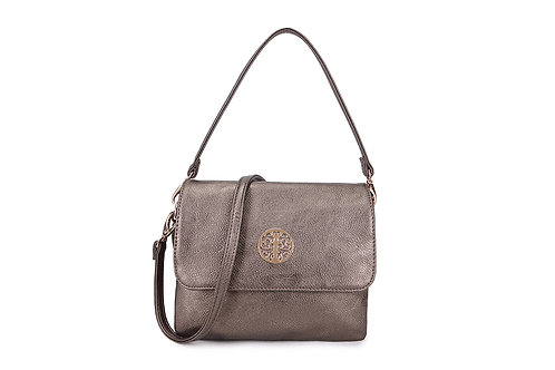 Cross-body / Shoulder bag with short handle also in Bronze.