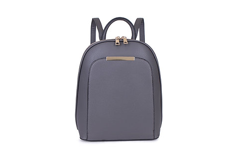 Compact Back pack with many compartments in Dark Grey.