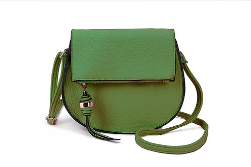 Classic Crossbody bag in soft faux leather in Green.