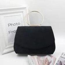 Envelope style evening bag. Black