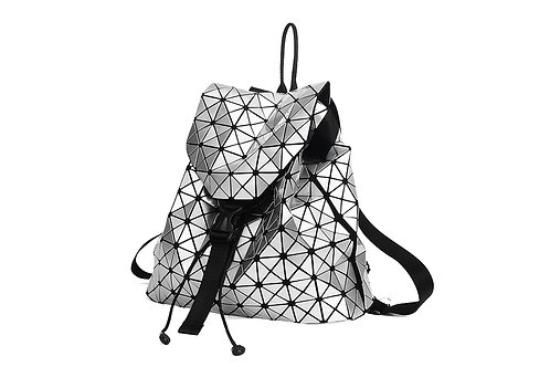 Super light Designer Back pack with many compartments in Silver