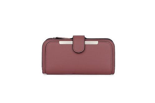 Classic versatile Purse / Wallet in Faux leather in Purple