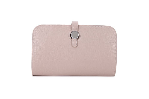 Unique purse to hold phone with detachable coin / card holder. Beige
