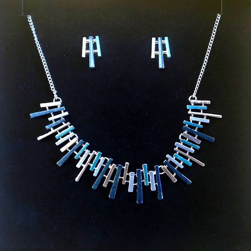 Contemporary designer Necklace and Earrings set.