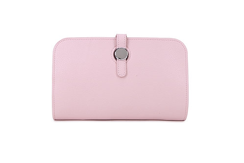 Unique purse to hold phone with detachable coin / card holder Pink