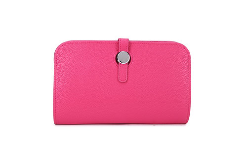 Unique purse to hold phone with detachable coin / card holder. Cerise