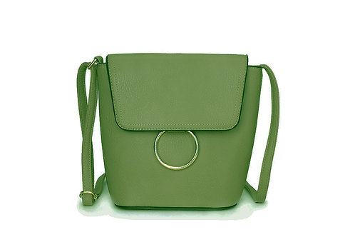 Classic Crossbody bag in soft faux leather in Green