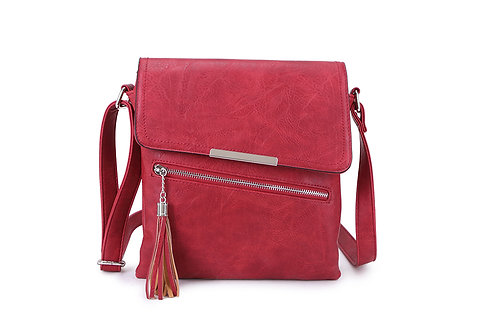 Crossbody square bag in Red.
