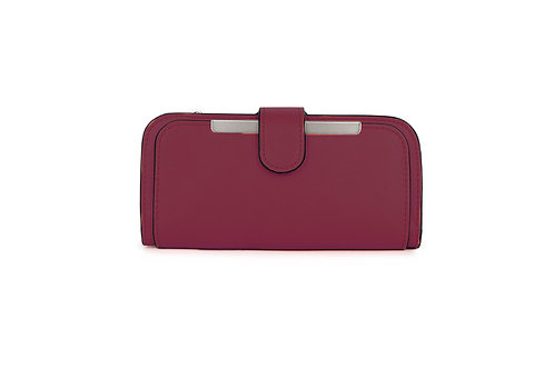 Classic versatile Purse / Wallet in Faux leather in Plum