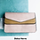 Thumbnail: Envelope Cross Body Bag in blush pink and taupe.