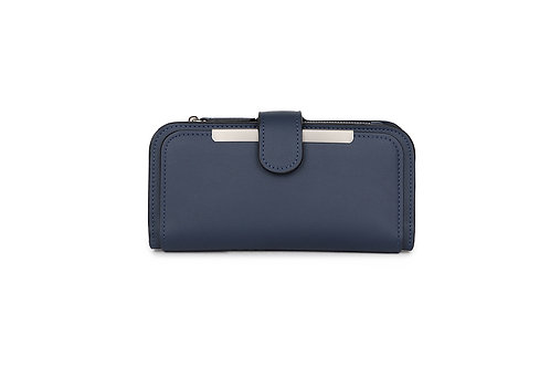 Classic versatile Purse / Wallet in Faux leather in Navy.