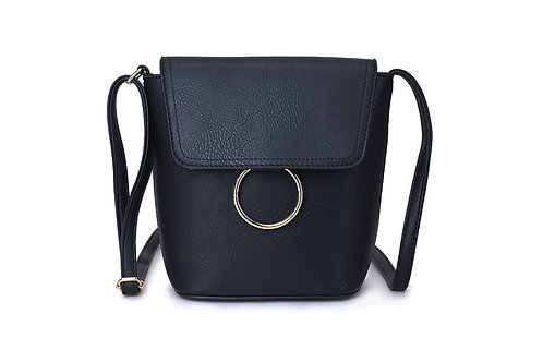Classic Crossbody bag in soft faux leather in Navy.