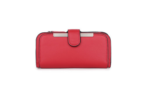 Classic versatile Purse / Wallet in Faux leather in Red