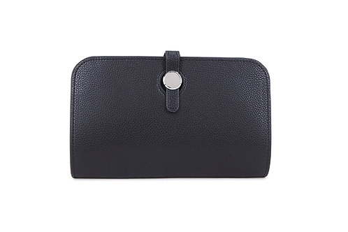 Unique purse to hold phone with detachable coin / card holder in Black