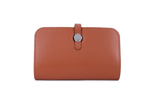 Unique purse to hold phone with detachable coin / card holder Brown