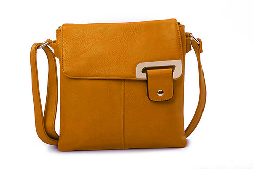 Crossbody with buckle design .Orange.