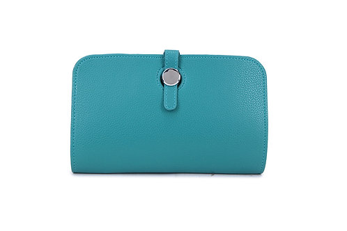 Unique purse to hold phone with detachable coin/card holder Teal