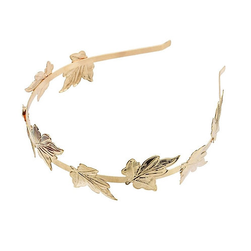 Leaf Hairband in Rose Gold .